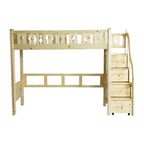 送料無料 新品 階段付きロフトベッド ロフトベッド システムベッド ホルムアルデヒド未使用 階段付き ナチュラル 海外 二段ベッド 木製 すのこベッド 春の新作 木製ベッド パイン材 シングルベッド