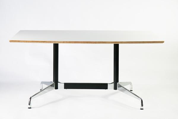 送料無料 新品 イームズ セグメンテッドベーステーブル イームズテーブル アルミナムテーブル 舟型 W160×D100×H74 cm ホワイト