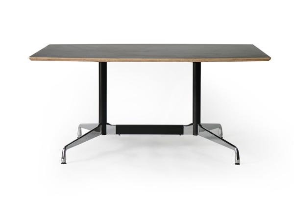 送料無料 新品 イームズ セグメンテッドベーステーブル イームズテーブル アルミナムテーブル 舟型 W160×D100×H74 cm ウォールナット