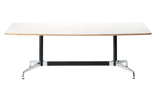 送料無料 新品 イームズ セグメンテッドベーステーブル イームズテーブル アルミナムテーブル 舟型 W220×D120×H74 cm ホワイト