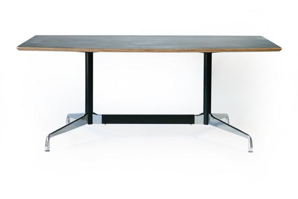 送料無料 新品 イームズ セグメンテッドベーステーブル イームズテーブル アルミナムテーブル 舟型 W180×D100×H74 cm ブラック