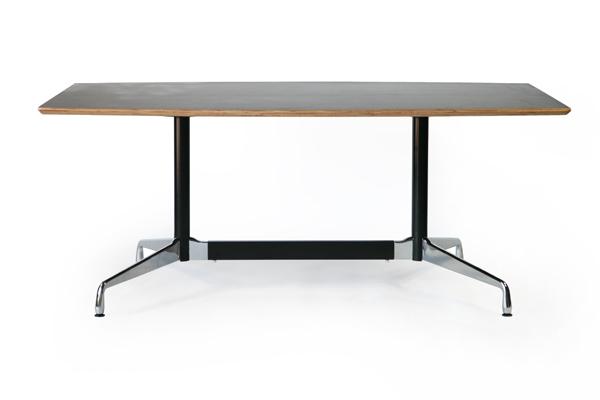 送料無料 新品 イームズ セグメンテッドベーステーブル イームズテーブル アルミナムテーブル 舟型 W180×D100×H74 cm ウォールナット