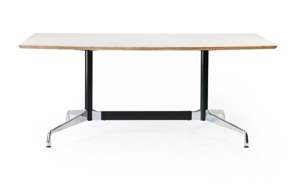 送料無料 新品 イームズ セグメンテッドベーステーブル イームズテーブル アルミナムテーブル 舟型 W180×D100×H74 cm ホワイト