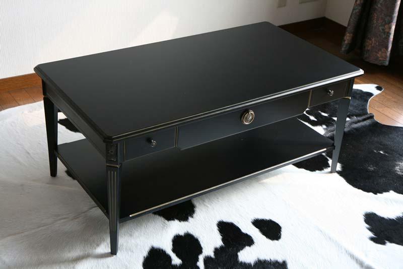 送料無料 新品 ブラックロココ センターテーブル F6122BG