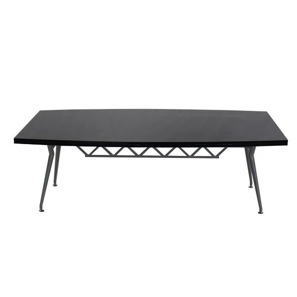 送料無料 新品 ブラック会議テーブル ミーティングテーブル 80020BK