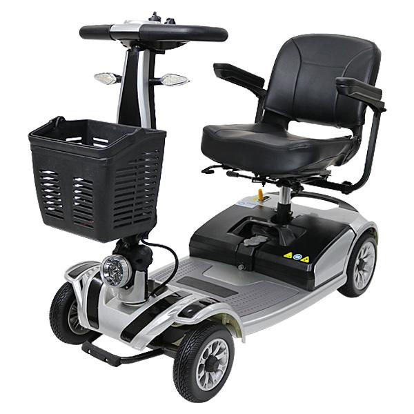 送料無料 新品 電動シニアカート 銀 シルバーカー 車椅子 TAISコード取得済 運転免許不要 折りたたみ 軽量 コンパクト 電動カート 四輪車 4輪車 移動 高齢者 充電 シート回転 電動車いす 電動車椅子 介護 福祉 お年寄り 老人 乗り物 贈り物 スクーター シルバー scooterd01sv