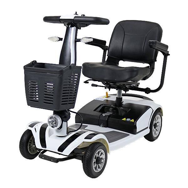 送料無料 新品 電動シニアカート 白 シルバーカー 車椅子 TAISコード取得済 運転免許不要 折りたたみ 軽量 コンパクト 電動カート 四輪車 4輪車 移動 高齢者 充電 シート回転 電動車いす 電動車椅子 介護 福祉 お年寄り 老人 乗り物 贈り物 スクーター ホワイト scooterd01wh