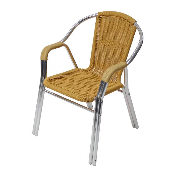 送料無料 ガーデンチェア ガーデン チェア ラタンチェア 人工ラタンチェア 単品 ナチュラル 籐 肘掛けカバー付き 家具 ファニチャー インテリア おしゃれ スタッキングチェア 椅子 チェア バリ風 リゾート カフェ ベランダ バルコニー テラス 庭 ガーデン rattan17na