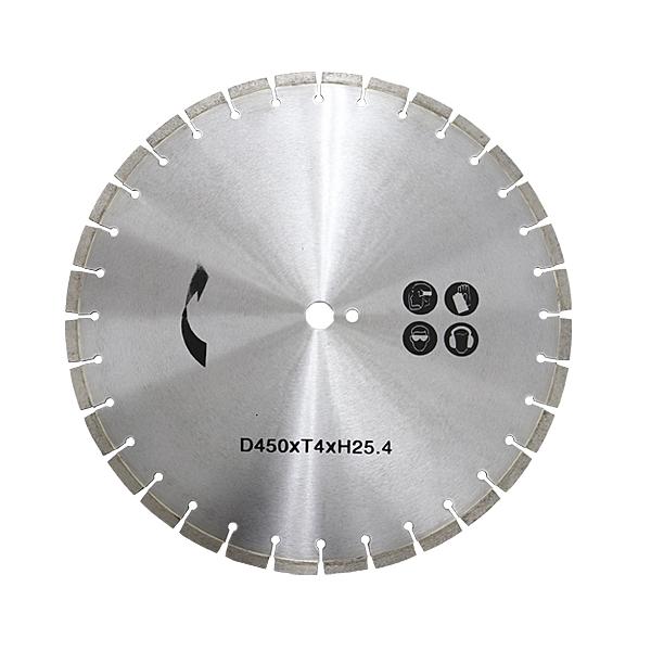 コンクリートカッター用ダイヤモンドブレード 単品 1枚 外径約458mm 18インチ 内径約25.4mm 穴径約25.4mm 刃厚約4mm ブレード コンクリートカッター アスファルトカッター 舗装カッター ダイヤモンドカッター 切断 道路 替え刃 替刃 交換 送料無料 ccutterdb450blade