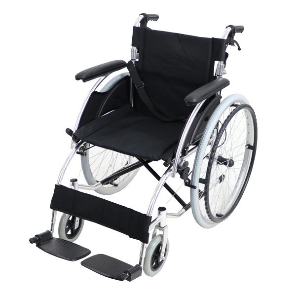 送料無料 車椅子 アルミ合金製 黒 約13kg TAISコード取得済 軽量 折り畳み 自走介助兼用 介助ブレーキ付き(ロック機能搭載) ノーパンクタイヤ 自走用車椅子 自走式車椅子 折りたたみ コンパクト 介助用 自走式 自走 介助 車椅子 車イス 車いす ブラック wheelchairs07bk