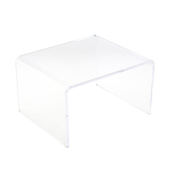 送料無料 アクリルテーブル サイドテーブル 単品 コの字 センターテーブル クリア 無色透明 透明感 インテリア 家具 アクリル樹脂 アクリルサイドテーブル アクリル テーブル ローテーブル 軽量 アクリルスタンド 展示台 ディスプレイ actable003cl
