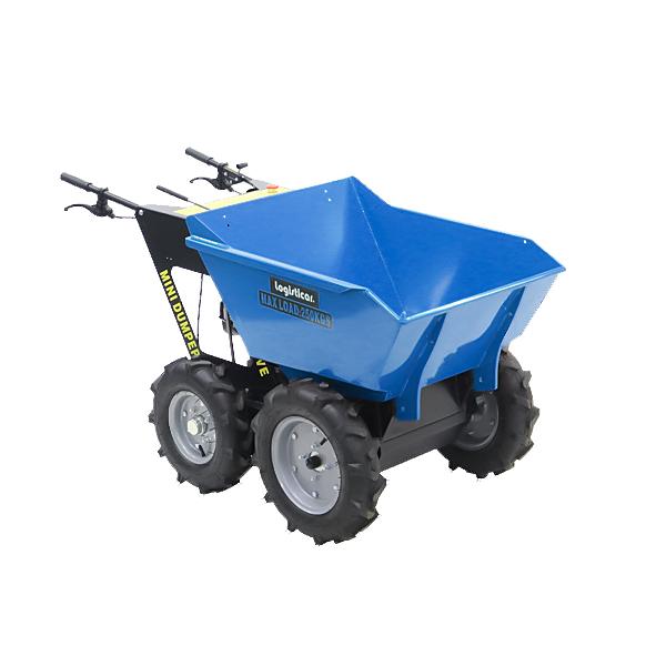 送料無料 ダンプカート エンジン式 Honda GXV160内蔵 4ストロークエンジン 最大積載重量約250kg 積載容量約200L 5.5馬力 4輪 ダンパー エンジン 台車 運搬車 青 運搬機 運搬用 土 砂 土砂 歩行型運搬車 ホンダエンジン 作業 林業 農業 農機具 運搬 ブルー minidumpd25b