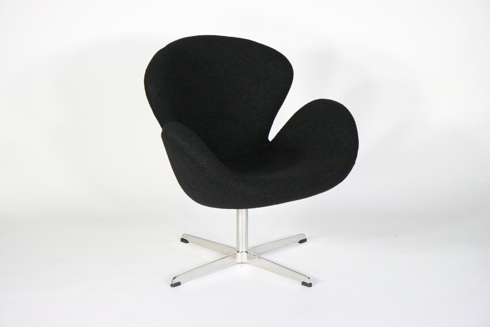 送料無料 新品 スワンチェア・ブラック(Swan Chair,BK) BLACK
