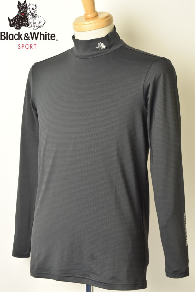 ブラック&ホワイト ゴルフ Black&Whiteハイネックシャツ メンズ 2020春夏新作 送料無料M-L-LL トップス ブラック アンド ホワイトあす楽_翌日着荷可