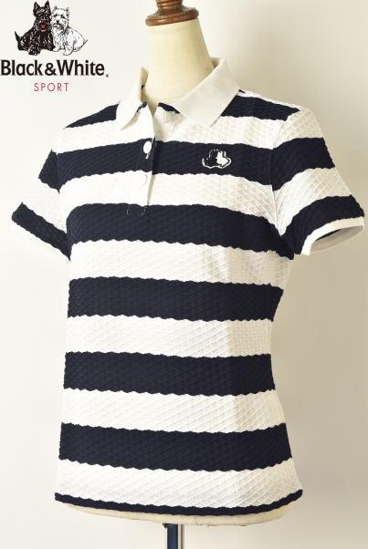 ブラック&ホワイト ゴルフ Black&White半袖ポロシャツ レディース 2020春夏新作 送料無料M-L-LL トップス ブラック アンド ホワイトあす楽_翌日着荷可