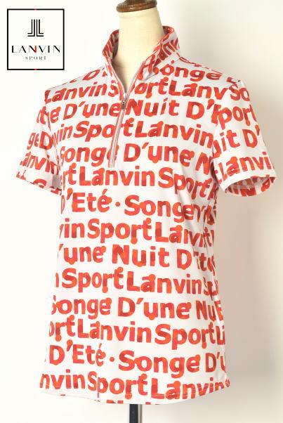 30%OFFセールランバン スポール ゴルフ LANVIN SPORT半袖ハーフジップシャツ レディース 春夏アイテム 送料無料M-L-LL-3L トップス ランバン スポールメーカー蔵出しあす楽_翌日着荷可