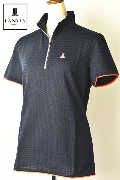 30%OFFセールランバン スポール ゴルフ LANVIN SPORT半袖ハーフジップシャツ レディース 春夏アイテム 送料無料M-L-LL トップス ランバン スポールメーカー蔵出しあす楽_翌日着荷可