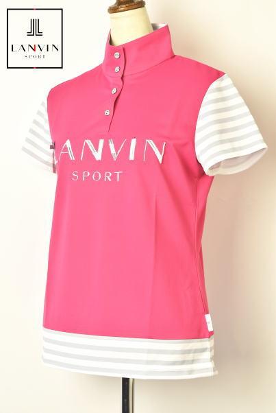 ランバン スポール ゴルフ LANVIN SPORT半袖スタンドカラーポロシャツ レディース 2020春夏新作 送料無料M-L-LL トップス ランバン スポールあす楽_翌日着荷可
