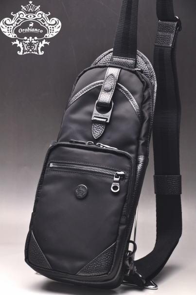 オロビアンコ Orobiancoボディバッグ メンズ 2019秋冬新作 送料無料鞄 ALL BLACK オロビアンコあす楽_翌日着荷可