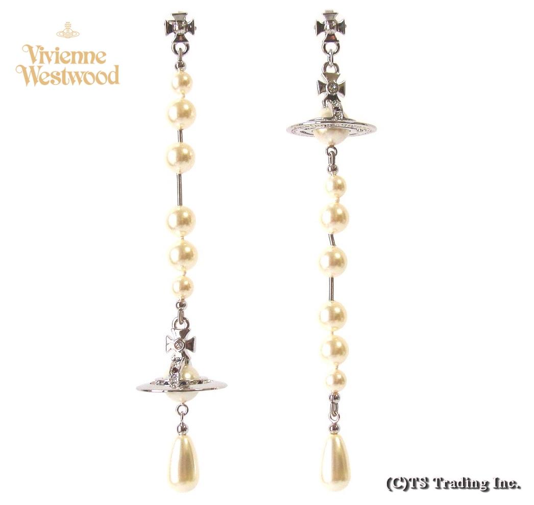 Vivienne Westwood ヴィヴィアンウエストウッド New Broken Pearl Drop Orb Earrings ブロークン パール ドロップ オーブ ピアス(SVP)【あす楽対応】【YDKG-k】【W3】【送料無料】