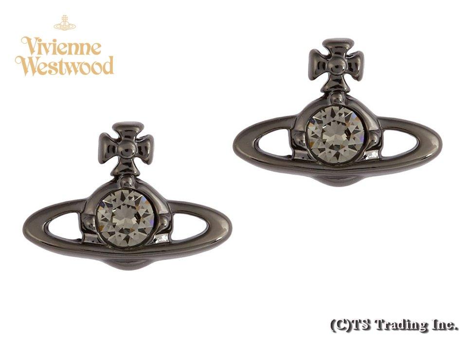 Vivienne Westwood ヴィヴィアンウエストウッド Nano Solitaire&ORB Earrings(ガンメタ) ナノ ソリティア&ORB ピアス【あす楽対応】【YDKG-k】【W3】【送料無料】【smtb-k】