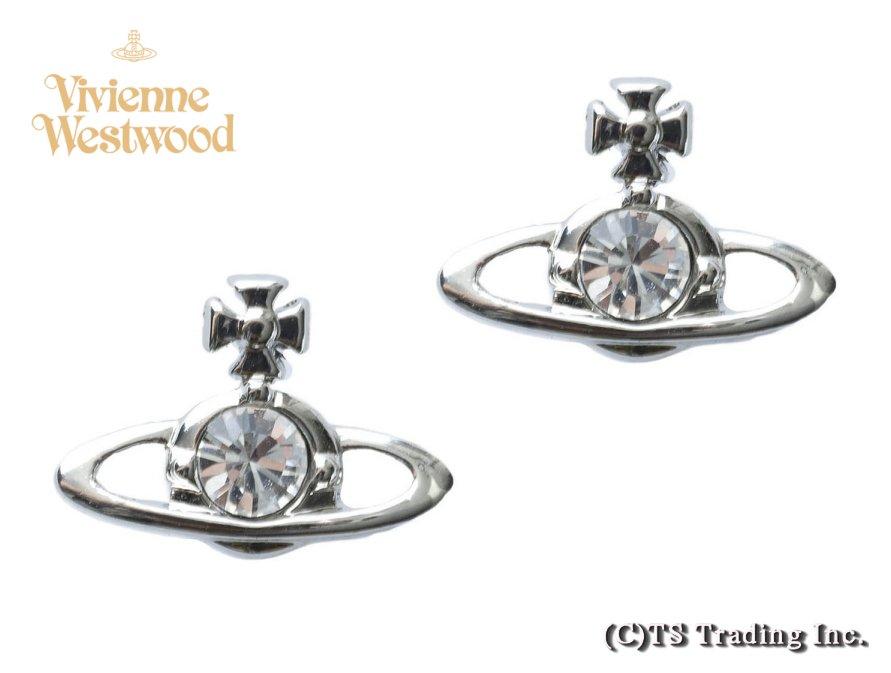 Vivienne Westwood ヴィヴィアンウエストウッド Nano Solitaire&ORB Earrings ナノ ソリティア&ORB ピアス SV【あす楽対応】【YDKG-k】【W3】【送料無料】【smtb-k】