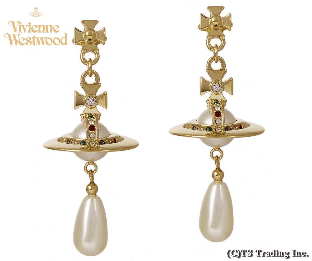 Vivienne Westwood ヴィヴィアンウエストウッド New Pearl Drop Orb Earrings パール ドロップ オーブ ピアス(GOLD)【あす楽対応】【YDKG-k】【W3】【送料無料】