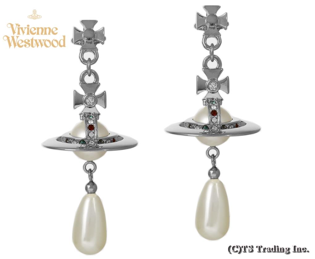 Vivienne Westwood ヴィヴィアンウエストウッド New Pearl Drop Orb Earrings パール ドロップ オーブ ピアス(SV)【あす楽対応】【YDKG-k】【W3】【送料無料】
