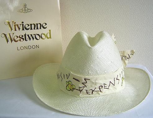 ◆Vivienne Westwood◆ヴィヴィアンウエストウッド★Oversized Straw Cowboy Hat限定☆麦わら・カーボーイ ハット(ナチュラル)