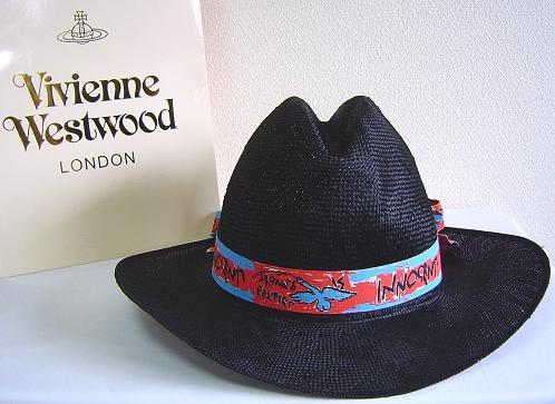 ◆Vivienne Westwood◆ヴィヴィアンウエストウッド★Oversized Straw Cowboy Hat限定☆麦わら・カーボーイ ハット(Black)