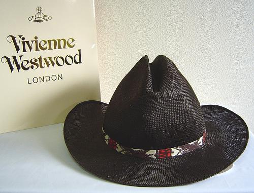 ◆Vivienne Westwood◆ヴィヴィアンウエストウッド★Oversized Straw Cowboy Hat限定☆麦わら・カーボーイ ハット(Dark Brown)