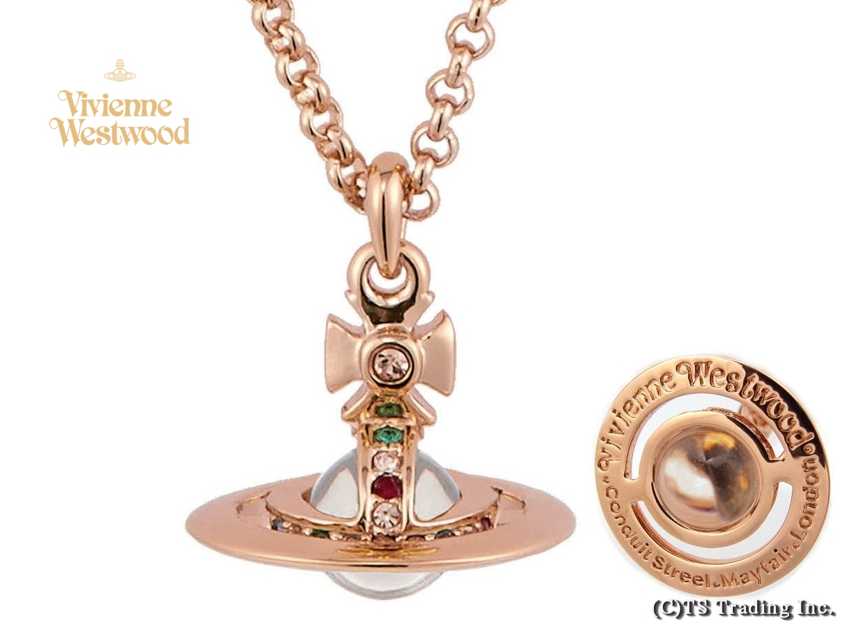 Vivienne Westwood ヴィヴィアンウエストウッド New Tiny Orb Pendant 新・タイニー オーブ ペンダント (Pink GOLD)【あす楽対応】【YDKG-k】【W3】