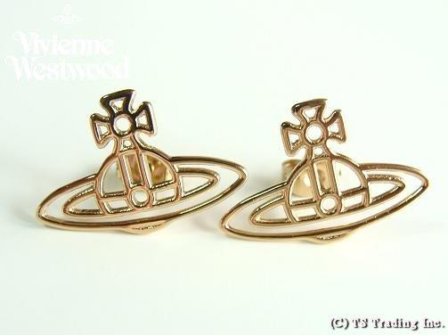 Vivienne Westwood ヴィヴィアンウエストウッド Thin Lines Orb Stud Pierced Earrings ☆シン ラインズ オーブ スタッド ピアス(GOLD)【あす楽対応】【YDKG-k】【W3】【送料無料】