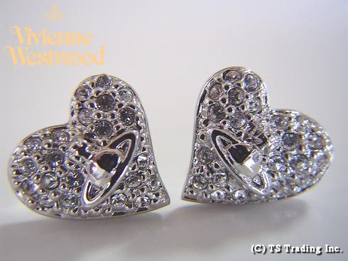 6638d80e7 Vivienne Westwood ◇ Vivienne Westwood ☆ Tiny Diamante Heart Stud Earrings  tiny diamond heart earrings SV