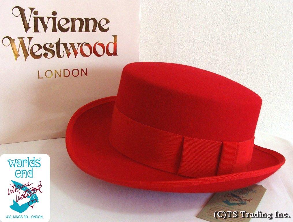 Vivienne Westwood ヴィヴィアンウエストウッド John-Bull hat 限定☆ジョンブル・ハット(RED)ワールズエンド ロンドン【あす楽対応】【YDKG-k】【W3】【送料無料】