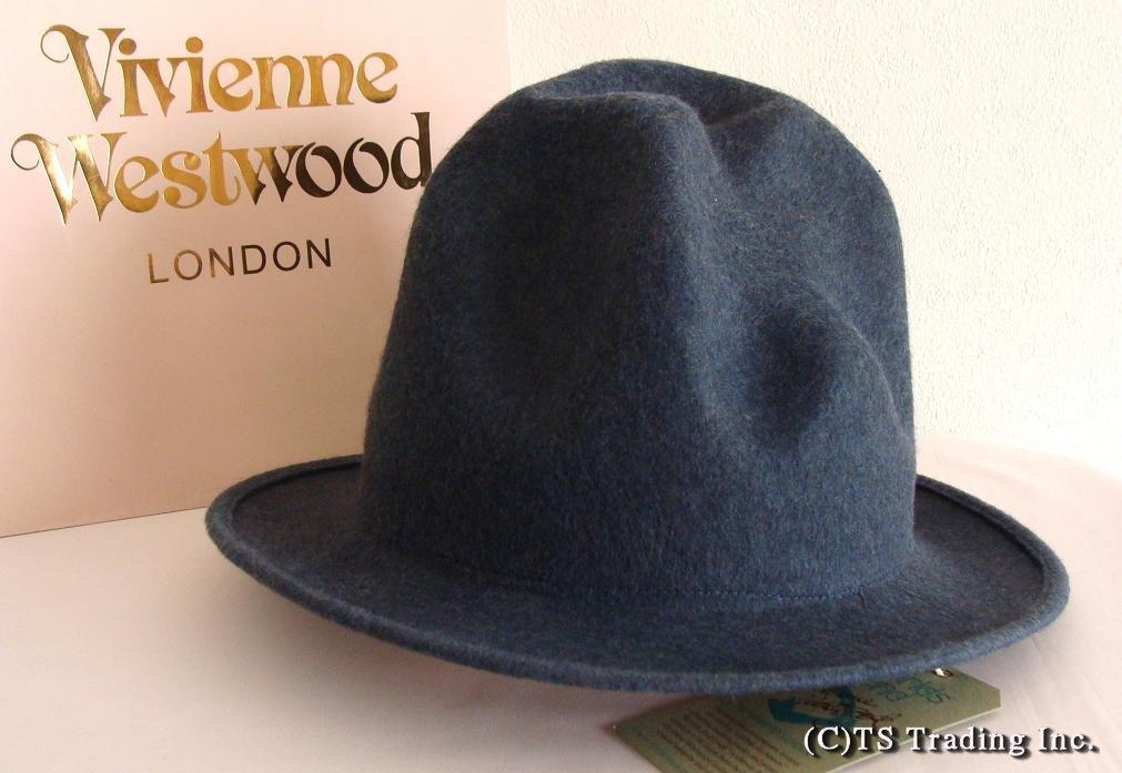 Vivienne Westwood ヴィヴィアンウエストウッド★Felt Mountain hat 限定☆フエルト・マウンテン ハット(Denim Blue)【送料無料】【あす楽対応】【YDKG-k】【W3】