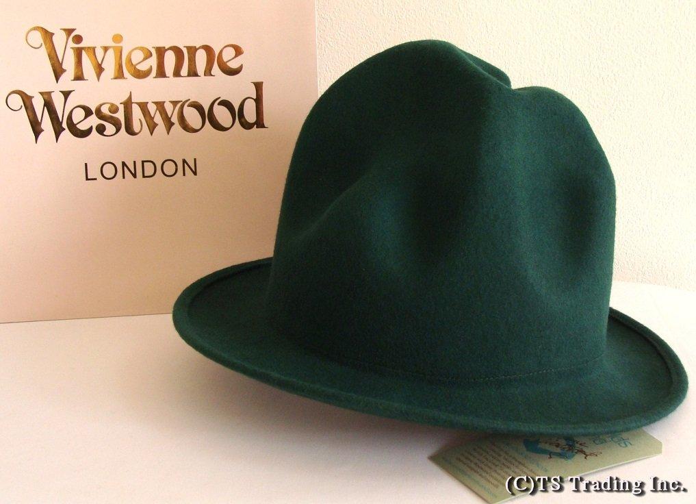 Vivienne Westwood ヴィヴィアンウエストウッド Felt Mountain hat 限定☆フエルト・マウンテン ハット(Green)ファレル ワールズエンド ロンドン【送料無料】【あす楽対応】【YDKG-k】【W3】