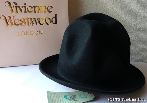 Vivienne Westwood ヴィヴィアンウエストウッド★Felt Mountain hat 限定☆フエルト・マウンテン ハット(BK)ファレル・ウィリアムス【送料無料】【あす楽対応】【YDKG-k】【W3】