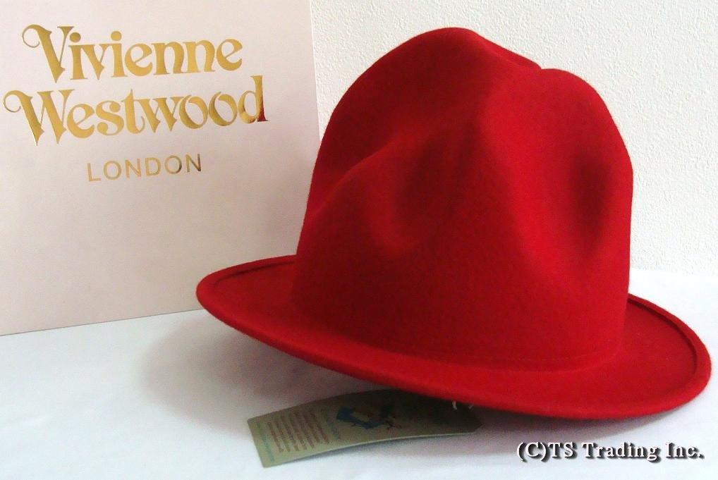 Vivienne Westwood ヴィヴィアンウエストウッド★Felt Mountain hat限定☆フエルト・マウンテン ハット(レッドカラー)ファレル ワールズエンド ロンドン【送料無料】【あす楽対応】【YDKG-k】【W3】