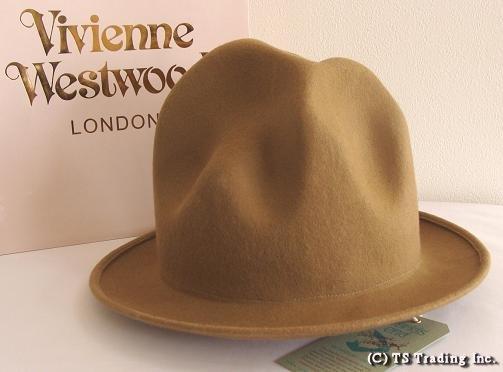 Vivienne Westwood ヴィヴィアンウエストウッド★Felt Mountain hat 限定☆フエルト・マウンテン ハット(カフェオレ)ワールズエンド【送料無料】【あす楽対応】【YDKG-k】【W3】