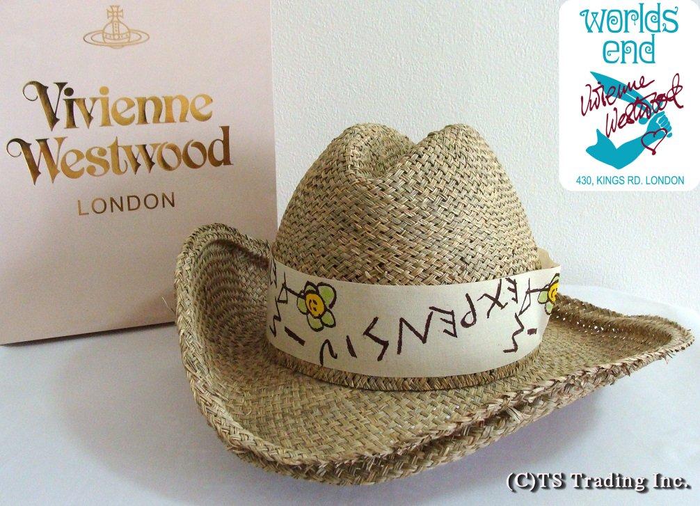 Vivienne Westwood ヴィヴィアンウエストウッド Straw Cowboy hat 限定☆麦わら・カウボーイ ハット (I AM EXPENSIV) by ワールズエンド【送料無料】【あす楽対応】