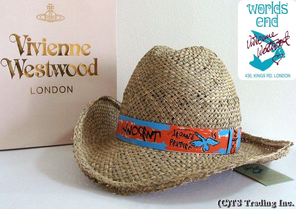 Vivienne Westwood ヴィヴィアンウエストウッド Straw Cowboy hat 限定☆麦わら・カウボーイ ハット (Flying Penis) by ワールズエンド【送料無料】【YDKG-k】【W3】