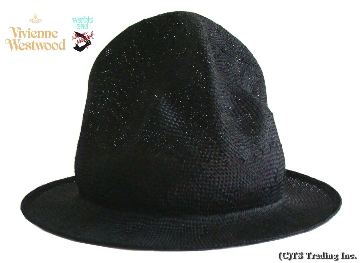 Vivienne Westwood ヴィヴィアンウエストウッド Straw Mountain hat ワ―ルズエンド限定☆麦わら・マウンテン ハット(BK)ファレル【送料無料】【YDKG-k】【W3】