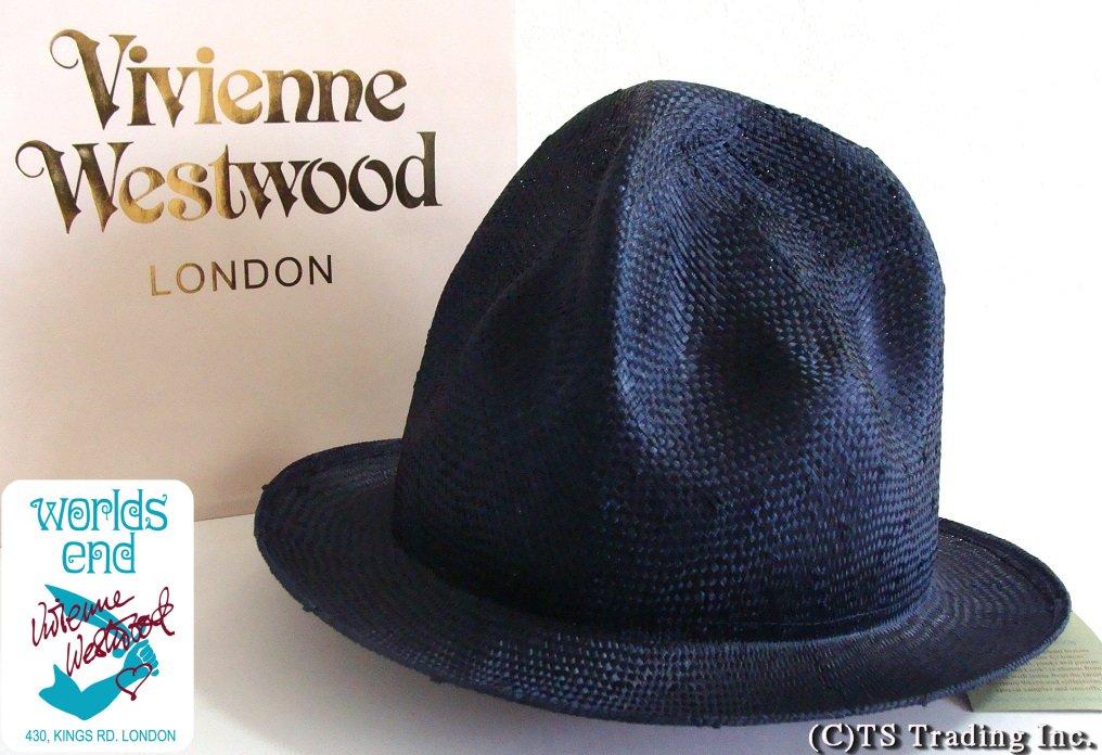 Vivienne Westwood ヴィヴィアンウエストウッド Straw Mountain hat ワ―ルズエンド限定☆麦わら・マウンテン ハット(NV)ファレル【送料無料】【YDKG-k】【W3】