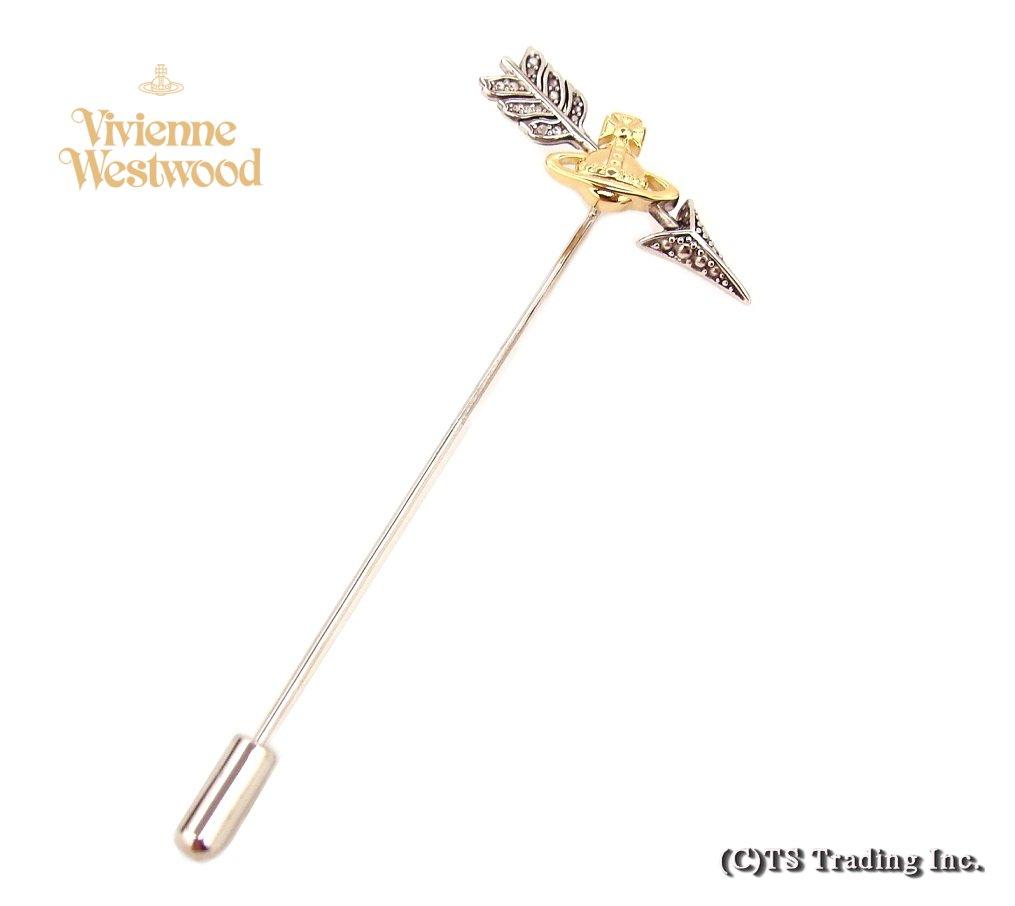 Vivienne MAN Percival Arrow ラペルピン ヴィヴィアンウエストウッド アロー オーブ Lapel Pin (GOLD)【あす楽対応】【YDKG-k】【W3】【送料無料】【smtb-k】