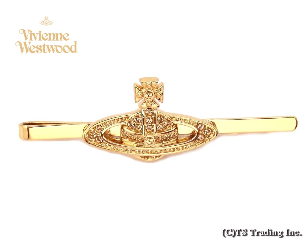 Vivienne Westwood ヴィヴィアンウエストウッド Mini Bas Relief Orb Tie Pin ミニバスレリーフ オーブ ネクタイピン(GOLD)【あす楽対応】【YDKG-k】【W3】【送料無料】【smtb-k】