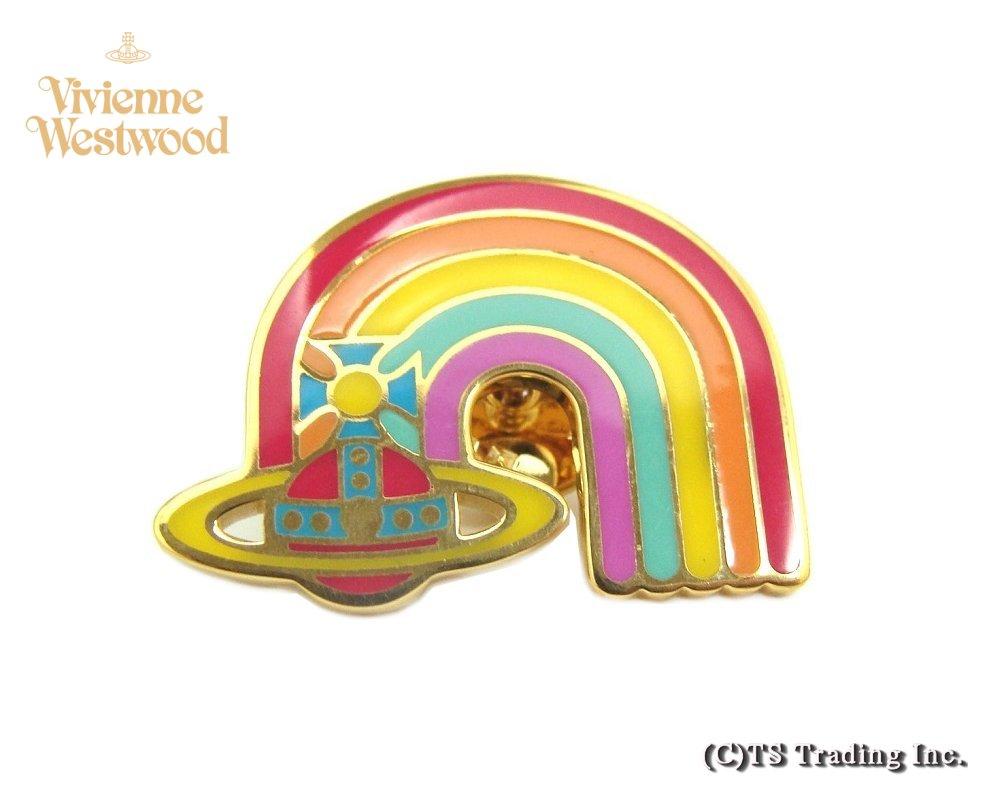 Vivienne Westwood ヴィヴィアンウエストウッド Dorothy Rainbow Orb Clutch Pin レインボー ドロシー クラッチ ORB ピン【あす楽対応】【送料無料】【YDKG-k】【W3】