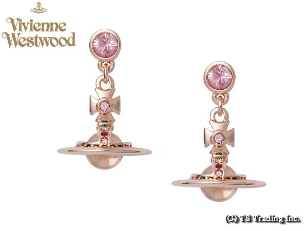 Vivienne Westwood ヴィヴィアンウエストウッド New Petite Orb Pierced Earrings 新・プチ オーブ ピアス (PK GOLD)【あす楽対応】【YDKG-k】【W3】