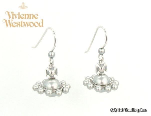 Vivienne Westwood ヴィヴィアンウエストウッド Orion 3D Drop Orb Pierced Earrings ☆オリオン 立体 オーブ ドロップ ピアス (SV)【あす楽対応】【YDKG-k】【W3】【送料無料】