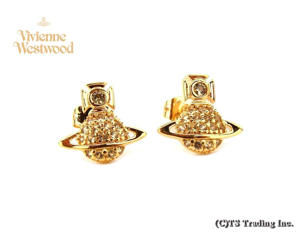 Vivienne Westwood ヴィヴィアンウエストウッド★Tamia Orb Pierced Earrings☆タミア オーブ ピアス (GOLD)【あす楽対応】【YDKG-k】【W3】【送料無料】【smtb-k】
